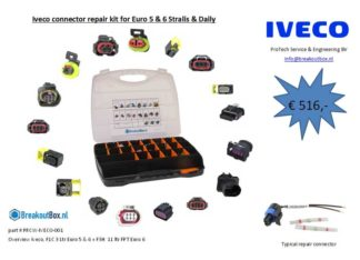 Iveco connector repair kit for Euro 5&6 Stralis & Daily
