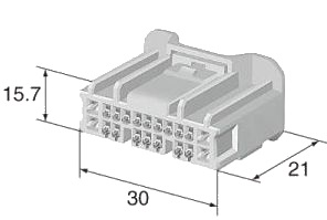 Connector 20 Pin PRC20-0002-B